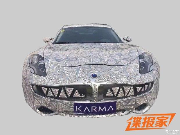 采用菲斯科造型 Karma Revero混动跑车谍照